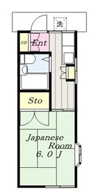 加野ハイツ2階Fの間取り画像
