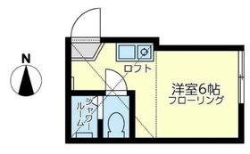 ユナイト鶴見ヴィクトリア1階Fの間取り画像