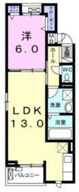 コリーヌK2階Fの間取り画像