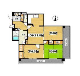 レインボウハイム2階Fの間取り画像