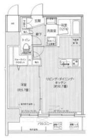 グランフォークス神田イーストタワー8階Fの間取り画像