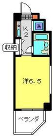 ドエル西横浜4階Fの間取り画像