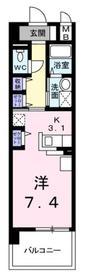 アンジュール鶴川1階Fの間取り画像