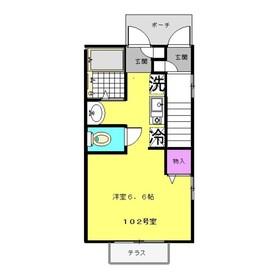 アテナ1階Fの間取り画像