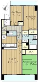 ヴェルデ町田2階Fの間取り画像