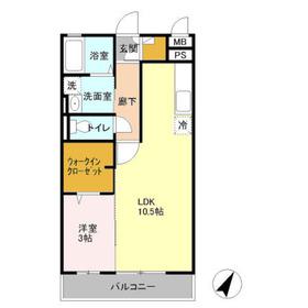 コート権太坂2階Fの間取り画像