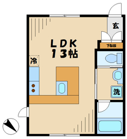 ブランシュール1階Fの間取り画像
