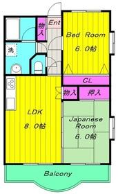 生田駅 徒歩6分4階Fの間取り画像