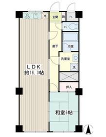 平和プラザマンション3階Fの間取り画像