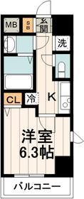 TREACE枝川6階Fの間取り画像
