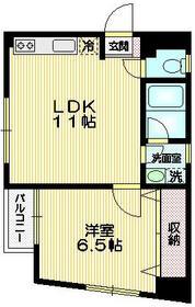 グレース武蔵野4階Fの間取り画像
