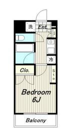 カペディアム2階Fの間取り画像