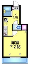 メゾンコンフォール1階Fの間取り画像