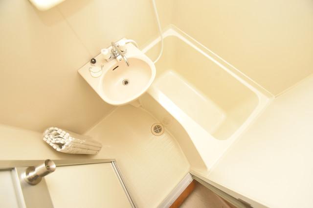 ヴィラサンライフ ちょうどいいサイズのお風呂です。お掃除も楽にできますよ。