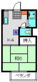 上大岡駅 徒歩8分2階Fの間取り画像