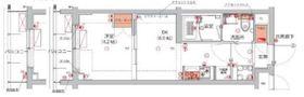 (仮)武蔵小杉フォレストスクエアレジデンス4階Fの間取り画像