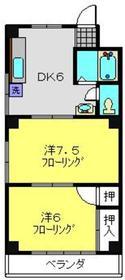 シンコーハイム3階Fの間取り画像