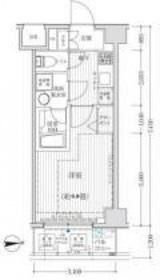 リライア吉野町Ⅱ5階Fの間取り画像