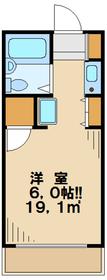 ミヤクレール百草2階Fの間取り画像