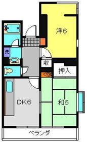 大倉山駅 徒歩14分4階Fの間取り画像