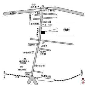 ガーネットコート四谷案内図