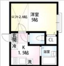 メゾンエルレーブ2階Fの間取り画像