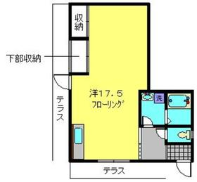 ふくみ荘1階Fの間取り画像