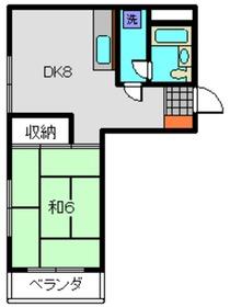 金子ビル3階Fの間取り画像