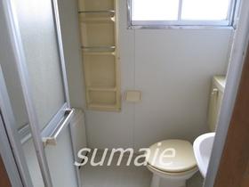 トイレには収納もあります