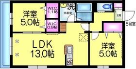 WISTERIA ウィステリア2階Fの間取り画像
