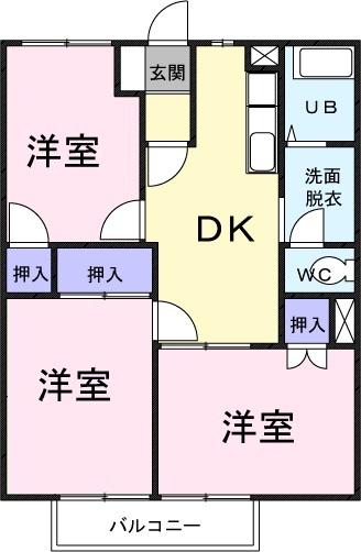 ハピネス渋谷間取図