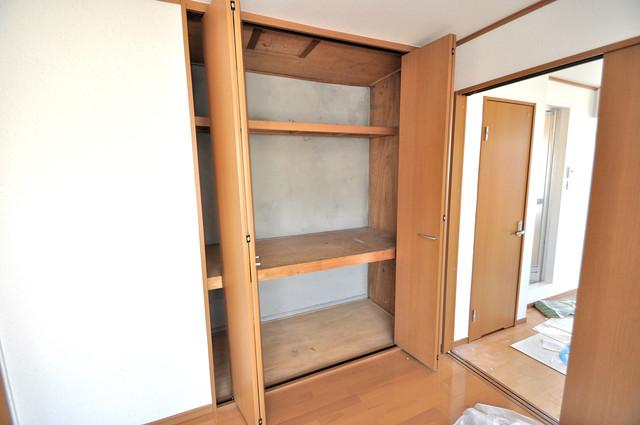 江口コーポ もちろん収納スペースも確保。いたれりつくせりのお部屋です。