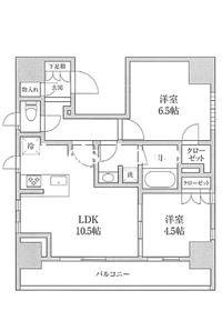 KDXレジデンス神田10階Fの間取り画像