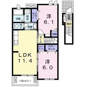 セレーナ2階Fの間取り画像