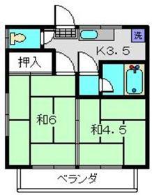 ロイヤルA2階Fの間取り画像