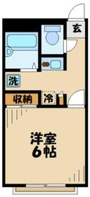 京王稲田堤駅 徒歩10分2階Fの間取り画像