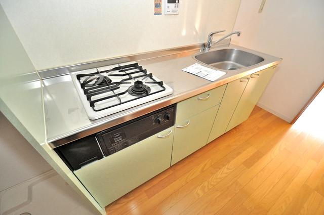 フレンテ田中 ピカピカのキッチンはお料理の時間が楽しくなりますね。