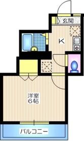 メゾンシャルム2階Fの間取り画像