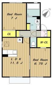 ウィルモアサカエ1階Fの間取り画像