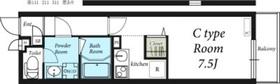 リブリ・アドバンス鶴見Ⅱ2階Fの間取り画像