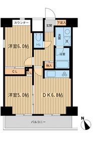 ベジフル北新宿弐番館8階Fの間取り画像
