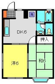 菊名駅 徒歩4分1階Fの間取り画像