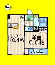 星谷ハイム五番館2階Fの間取り画像