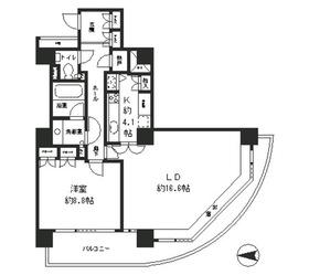 リバーポイントタワー17階Fの間取り画像