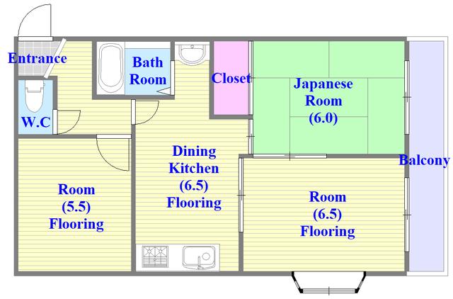 湊川マンション 和室のあるゆったりした間取です。一度ご覧ください。