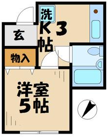 アステール21階Fの間取り画像