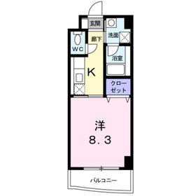 宿河原駅 徒歩8分3階Fの間取り画像