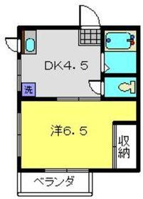 日吉駅 徒歩6分2階Fの間取り画像