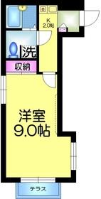 ロイヤルガーデン1階Fの間取り画像