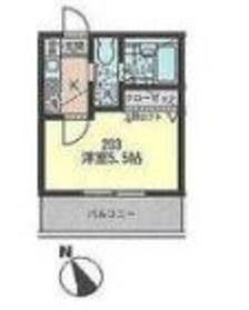 トワレ横浜2階Fの間取り画像